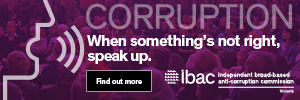 Corruption. When something's not right, speak up. Find out more.